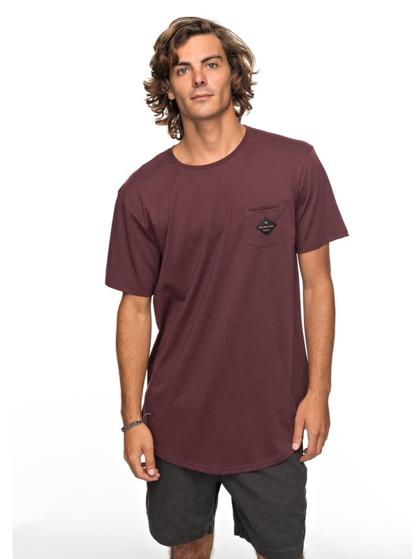 0 Scallop Loves Pocket Tee Red EQYZT04769 Quiksilver