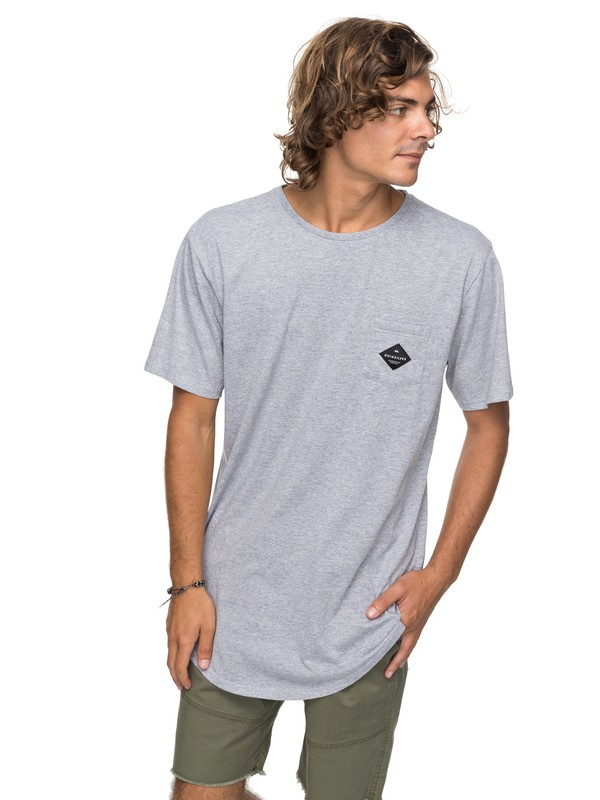 0 Scallop Loves Pocket Tee Grey EQYZT04769 Quiksilver