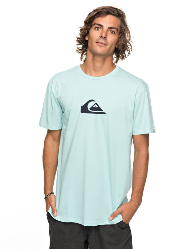 0 Classic Comp Logo - T Shirt col rond Bleu EQYZT04773 Quiksilver