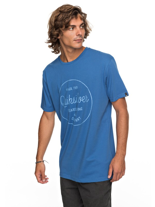 0 Classic Morning Slides - T-Shirt Blue EQYZT04774 Quiksilver
