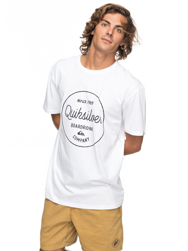 0 Classic Morning Slides - T-Shirt White EQYZT04774 Quiksilver