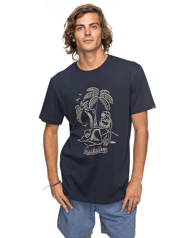 0 Classic Sayin - T Shirt col rond Bleu EQYZT04776 Quiksilver