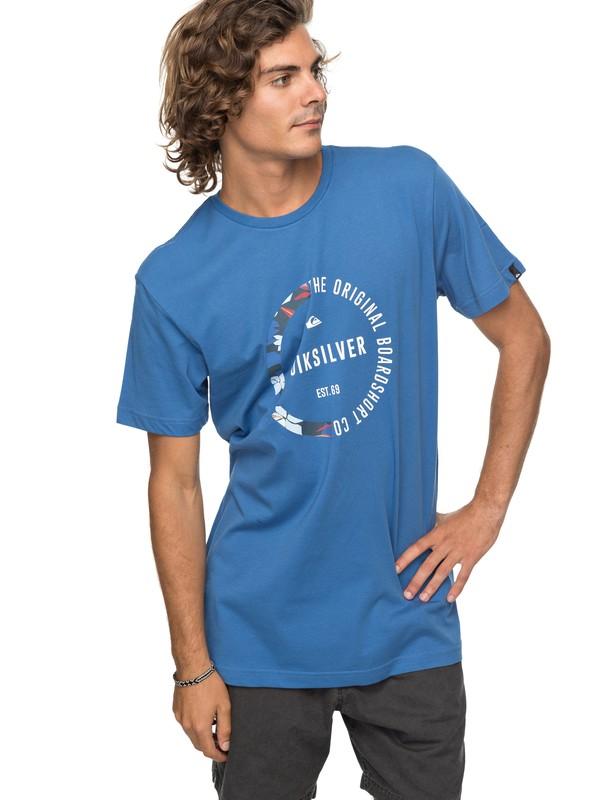 0 Classic Revenge - T Shirt col rond Bleu EQYZT04777 Quiksilver