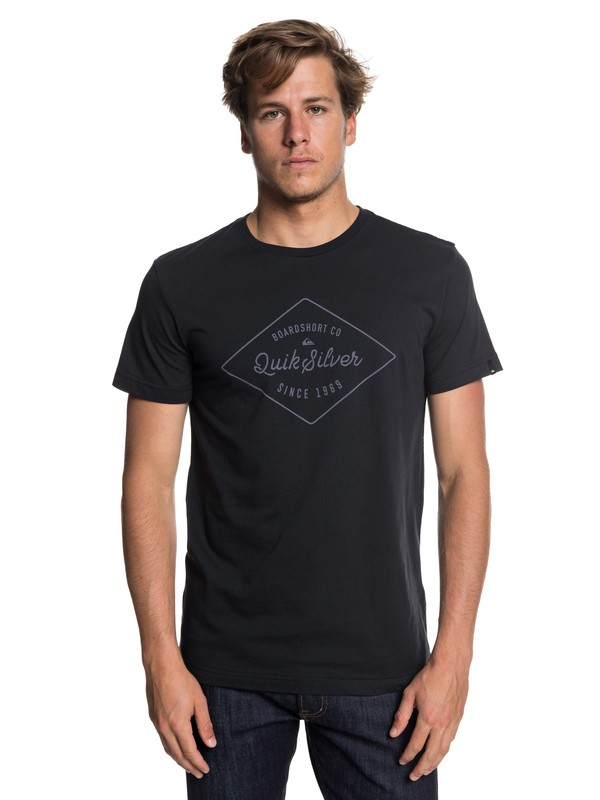 0 Classic Amethyst - T Shirt col rond Noir EQYZT04779 Quiksilver