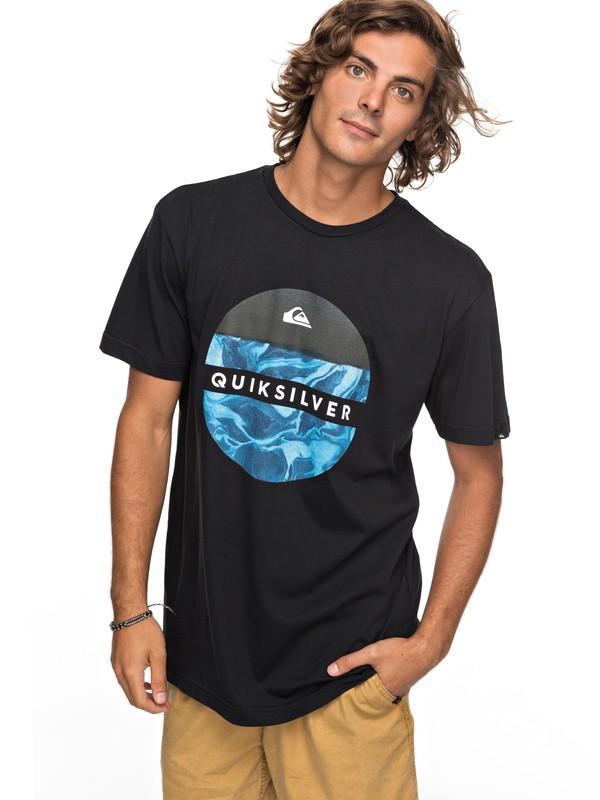 0 Classic Outer Hacka - T Shirt col rond Noir EQYZT04780 Quiksilver
