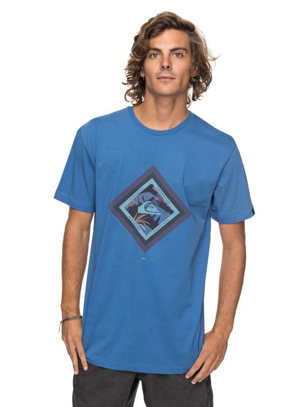 0 Classic Crimson Skyline - T Shirt col rond Bleu EQYZT04781 Quiksilver
