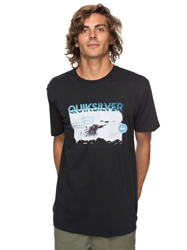 0 Classic Black Horizon - T Shirt col rond Noir EQYZT04783 Quiksilver