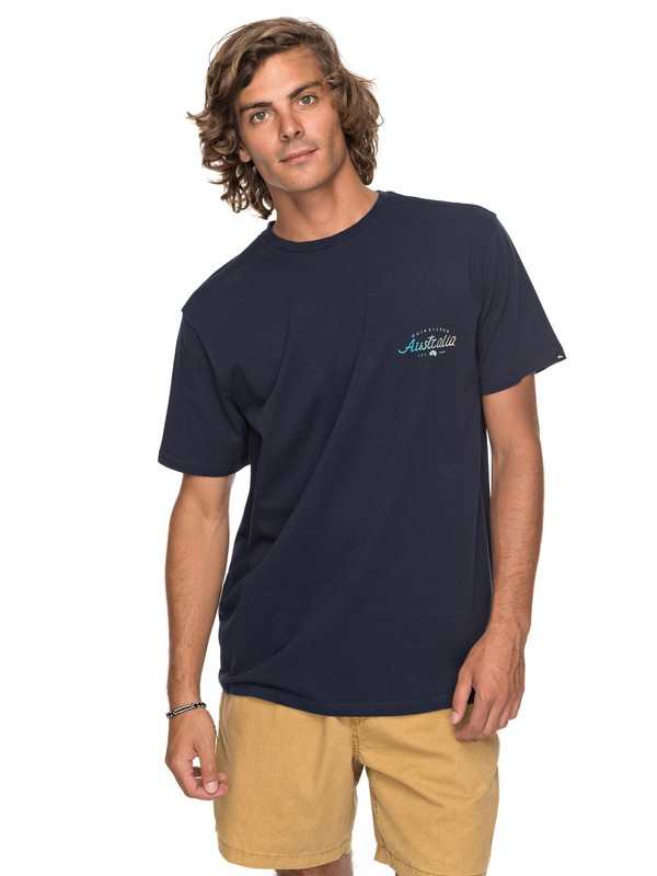 0 Classic Bering Way - T Shirt col rond Bleu EQYZT04788 Quiksilver
