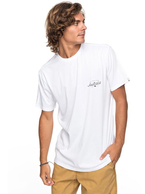 0 Classic Bering Way - T-Shirt White EQYZT04788 Quiksilver