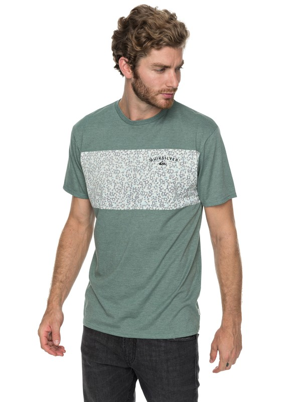 0 Cactus Falls - T Shirt col rond Bleu EQYZT04792 Quiksilver