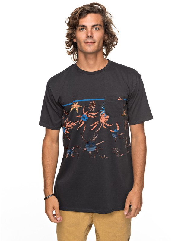 0 Stack For Days Pocket Tee Black EQYZT04793 Quiksilver