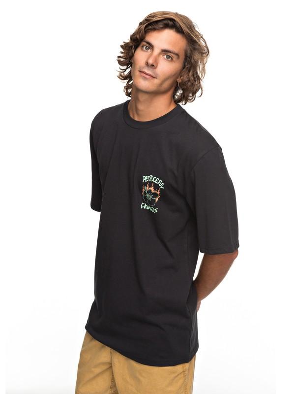 0 PC Volcano - T Shirt col rond Noir EQYZT04808 Quiksilver