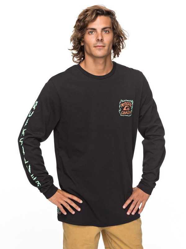 0 PC Statement Long Sleeve Tee Black EQYZT04812 Quiksilver