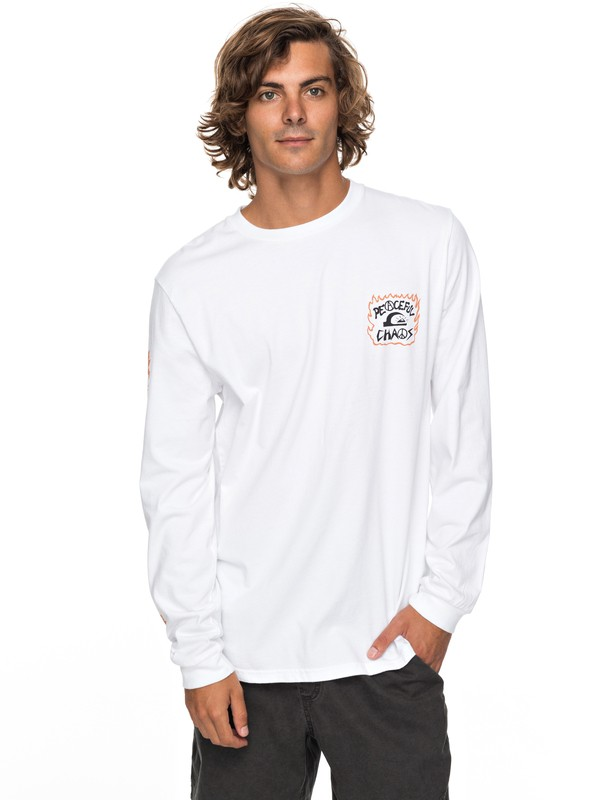 0 PC Statement Long Sleeve Tee White EQYZT04812 Quiksilver
