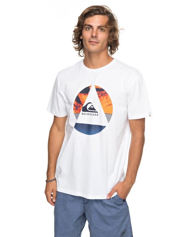 0 Classic Fluid Turns - T Shirt col rond Blanc EQYZT04893 Quiksilver