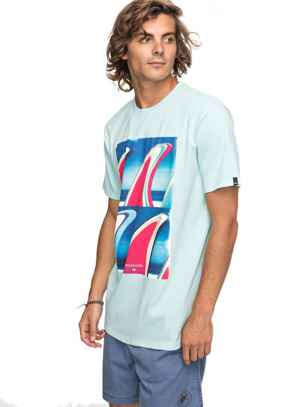 0 Classic Fin Fanatic - T Shirt col rond Bleu EQYZT04896 Quiksilver
