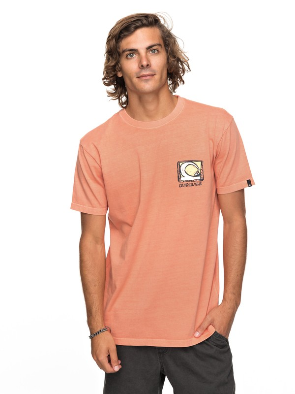 0 Dens Way - T-shirt col rond  EQYZT04929 Quiksilver