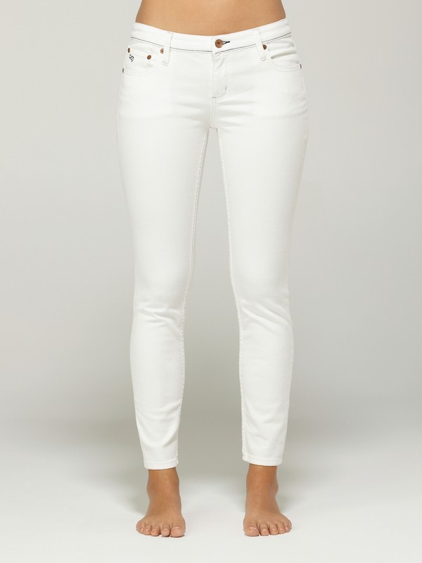 0 Tama Crop Bright White Jeans  G13061 Quiksilver