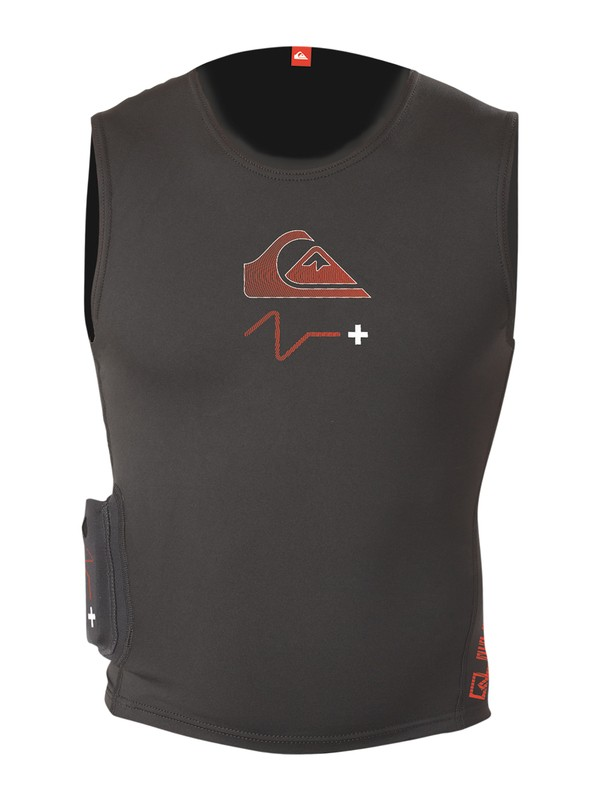 0 Ps+Qs Heated Vest Black HV915MF Quiksilver