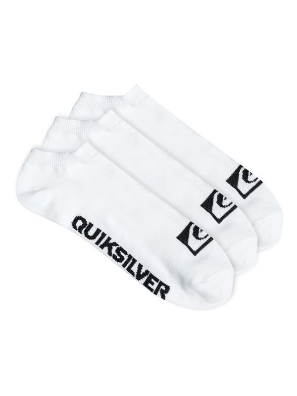 0 Quiksilver Logo - Pack de 3 - chaussettes invisibles  PS050509T Quiksilver