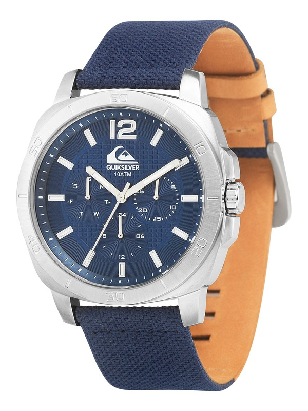 0 The Drifter Leather Strap Watch  QS1004 Quiksilver