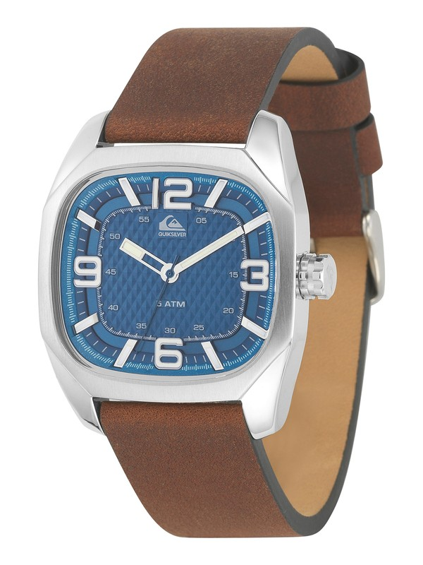 0 The Bruiser Leather Strap Watch  QS1006 Quiksilver