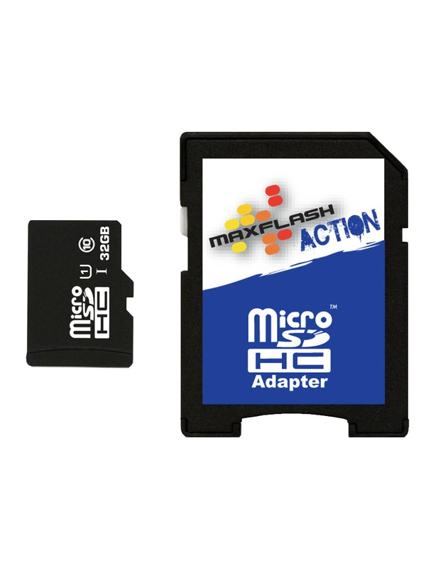 0 MaxFlash Action 32GB MicroSD Card  SD32MICRO Roxy