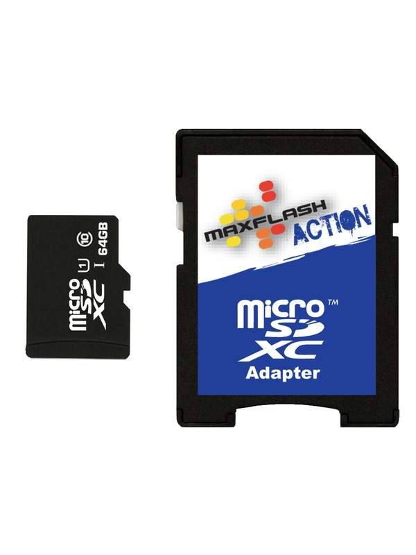 0 MaxFlash Action 64GB MicroSD Card  SD64MICRO DC Shoes