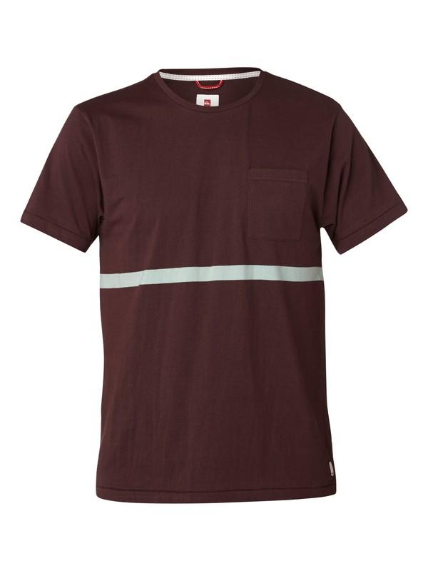 0 Thinline Slim Fit T-Shirt Red UQYZT03036 Quiksilver