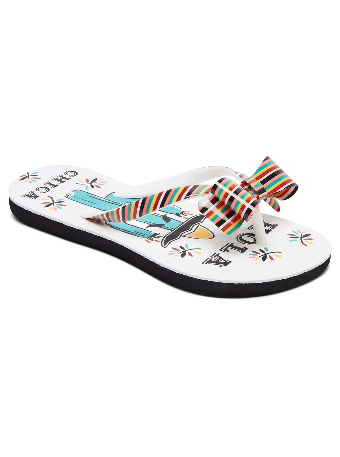 0 Girls 714 Lulu Flip Flops White ARGL100073 Roxy