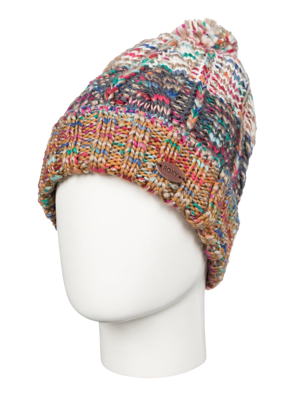 Вязаная косичкой шапка-beanie Sea Bank Roxy