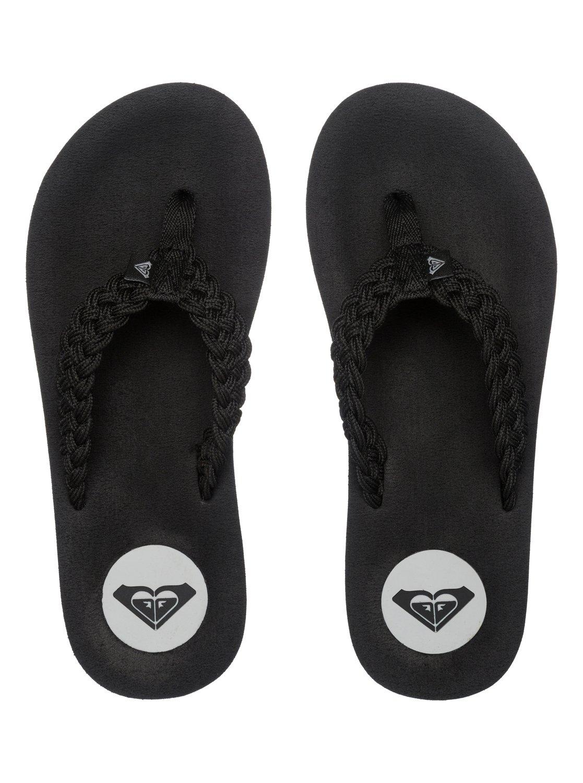 Black roxy sandals - 2 Crescent Flip Flops Arjl100267 Roxy