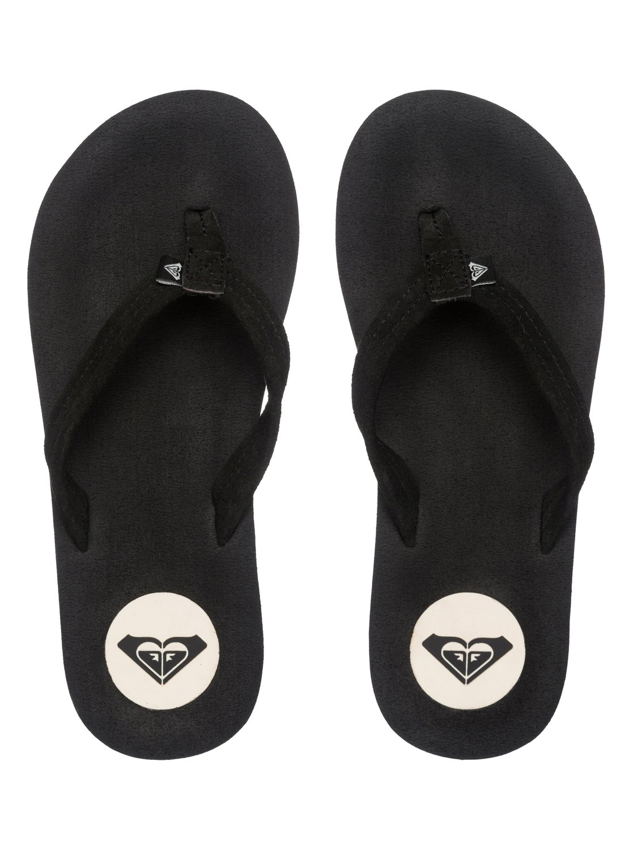 Black roxy sandals - 2 Solana Flip Flops Arjl100303 Roxy