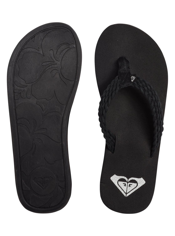 Black roxy sandals - 4 Porto Flip Flops Black Arjl100397 Roxy