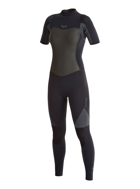 Женские Гидрокостюм с короткими рукавами и спинной молнией Syncro GBS 2 мм Roxy Women's Syncro GBS 2mm Back Zip Short Sleeve Wetsuit