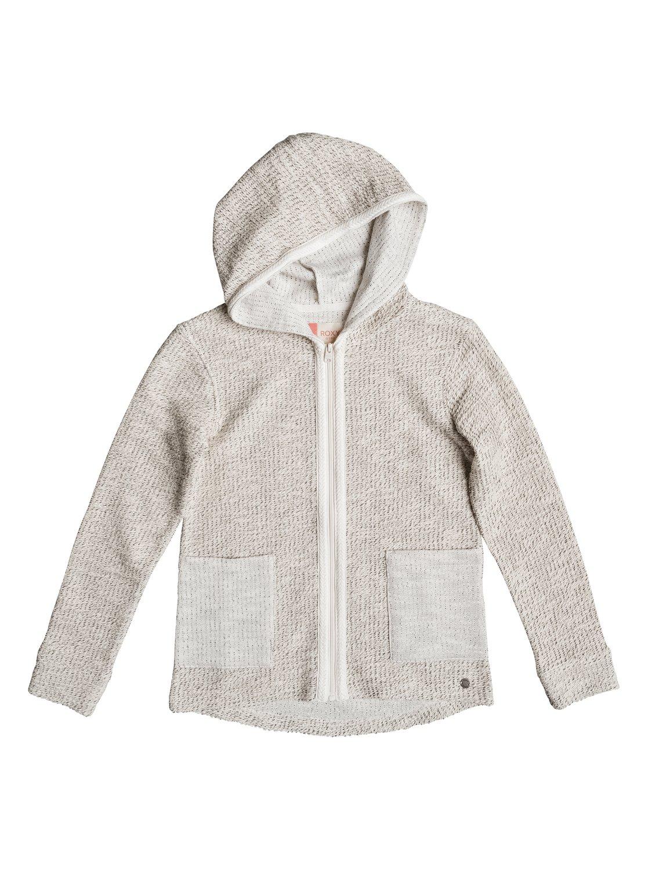 Cool White - Sweat à capuche zippé pour Fille - Roxy