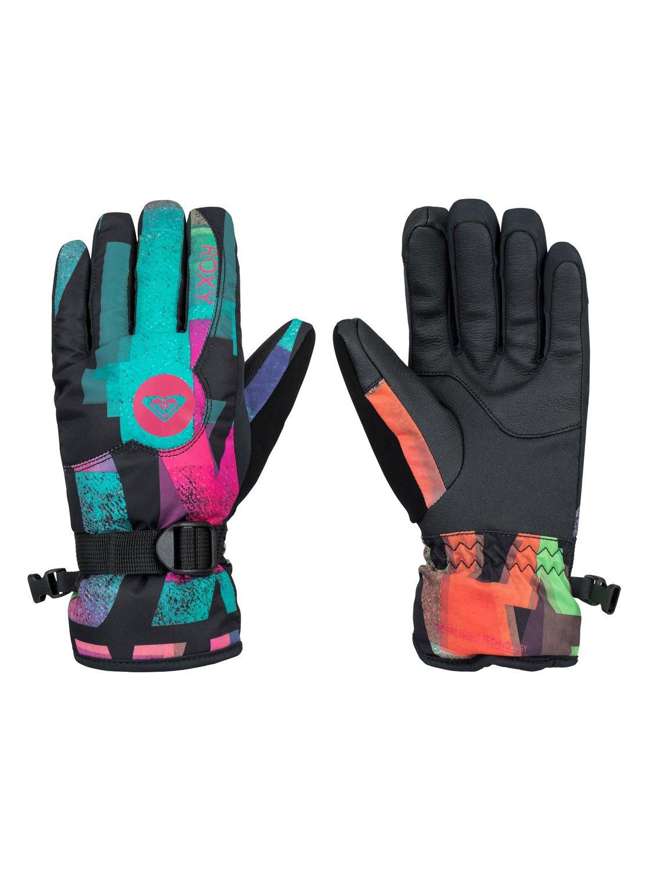JettyСноубордические перчатки Jetty для девочек из сноубордической коллекции Roxy. ХАРАКТЕРИСТИКИ: предварительно сформированный крой, регулируемое запястье, запястье на застежке с удобной регулировкой, панель для протирки маски и вытирания носа на большом пальце, эластичный лиш. СОСТАВ: 55% полиуретан, 45% полиэстер.<br>