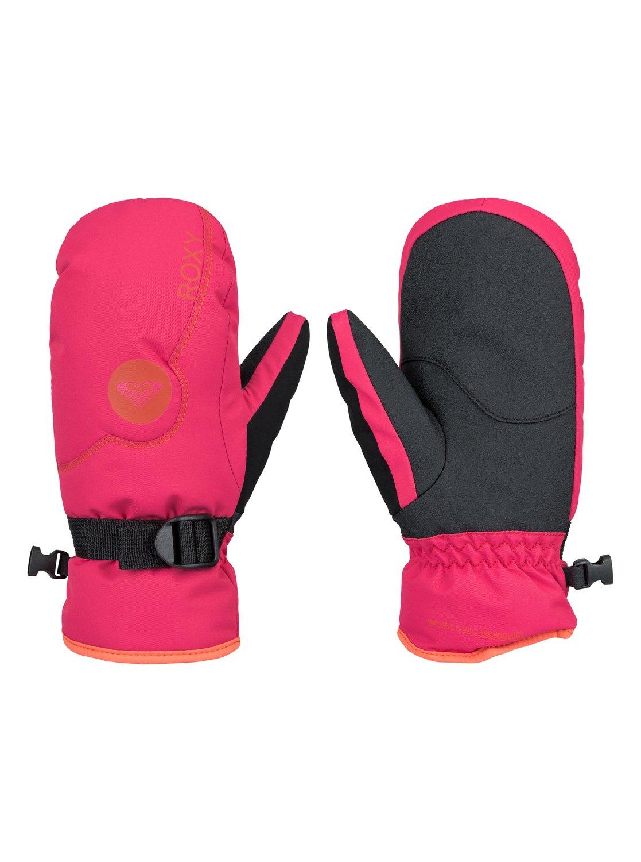Jetty SolidВарежки Jetty Solid для девочек из сноубордической коллекции Roxy. ХАРАКТЕРИСТИКИ: предварительно сформированный крой, регулируемое запястье, запястье на застежке с удобной регулировкой, панель для протирки маски и вытирания носа на большом пальце, эластичный лиш. СОСТАВ: 55% полиуретан, 45% полиэстер.<br>