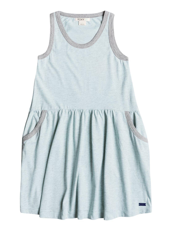 Girls Paradise Dress Tank DressПлатье без рукавов для девочек Paradise Dress от ROXY.ХАРАКТЕРИСТИКИ: с карманами, присборенная отделка на спине, металлический значок ROXY спереди внизу.СОСТАВ: 54% хлопок, 46% полиэстер.<br>