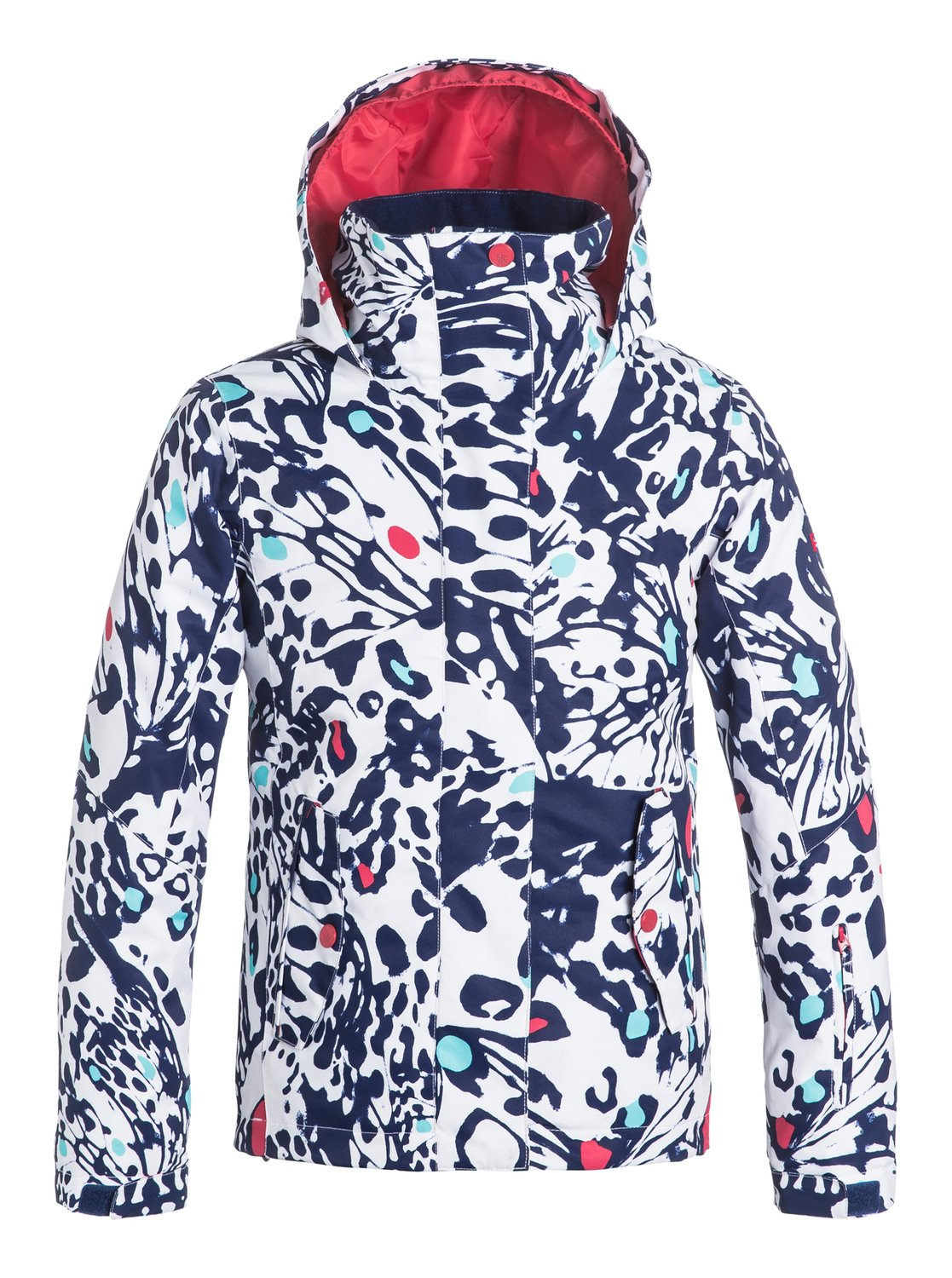 Сноубордическая детская куртка ROXY JettyStandout on the slopes with the ROXY Jettys bold prints. This snow jacket for girls has been crafted with 10K ROXY DryFlight® technology waterproofing for reliable waterproof and breathable protection. An easy-to-wear regular fit allows space to layer and comes complete with Warmflight® insulation level 3 to keep you cosy on the coldest winter days.<br>