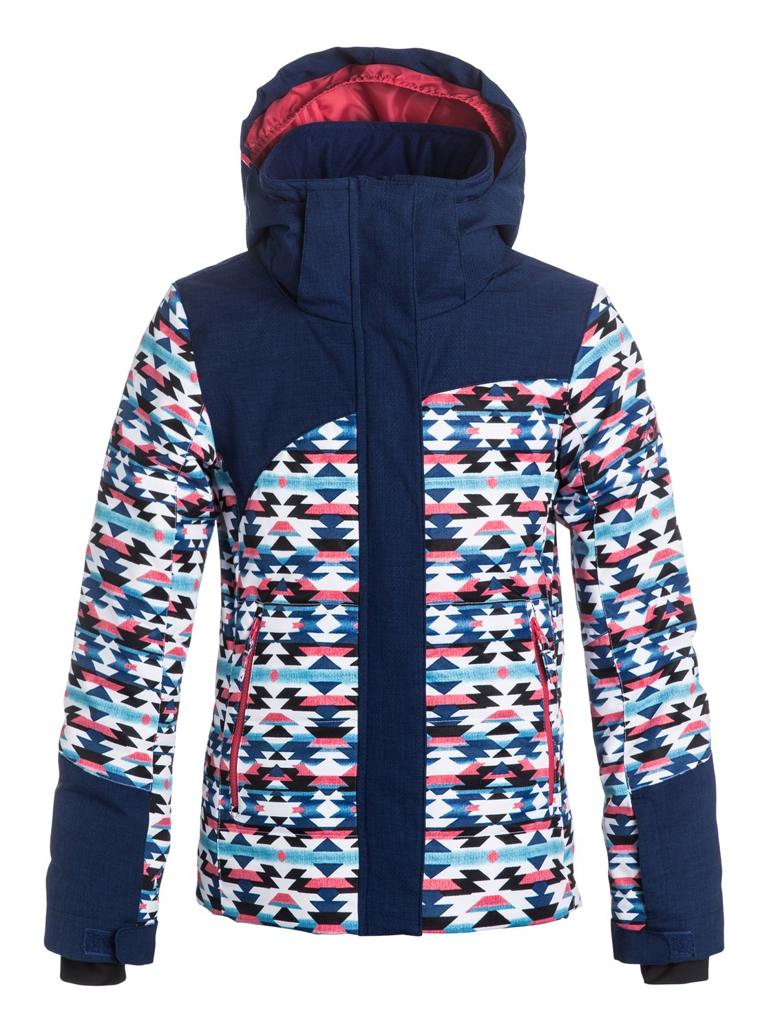 Сноубордическая детская куртка FlickerThe slim fit Flicker snow jacket for girls is both stylish and technical. Crafted with 10K ROXY DryFlight® technology waterproofing for reliable waterproof and breathable protection, the hooded design mixes Warmflight® polyfill quilting with non-quilted insulation for warmth without the bulk. Critically-taped seams, breathable taffeta lining with soft tricot panels and a host of tech features will keep you schussing to your hearts content.<br>