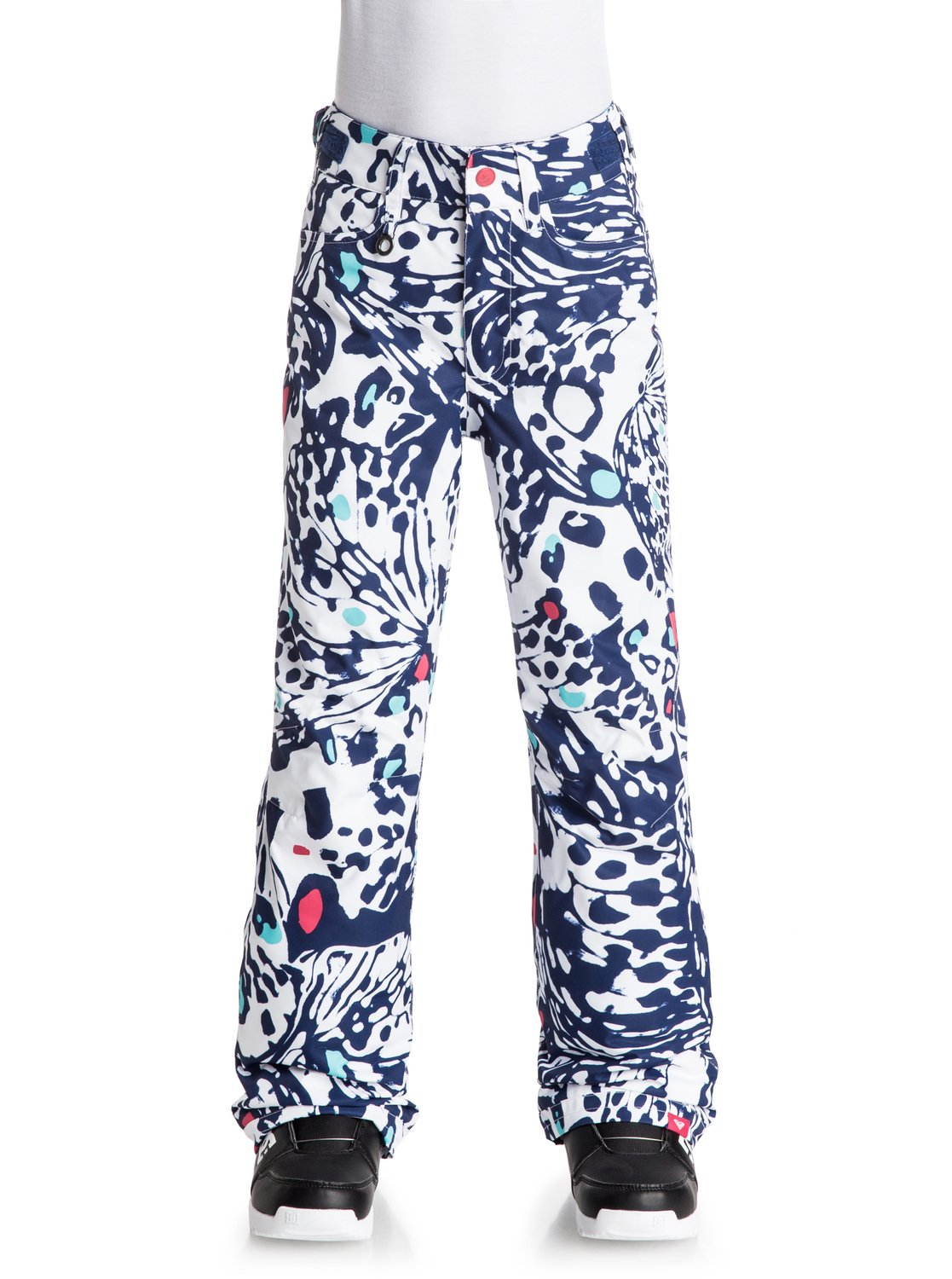 Сноубордические штаны Backyard PrintedThe Backyard Printed snow pants timeless regular fit has been crafted with 10K ROXY DryFlight® technology waterproofing and Warmflight® level 2 insulation for low-bulk warmth, lightweight, breathable taffeta lining and critically-taped seams for extra protection in the most exposed areas.<br>