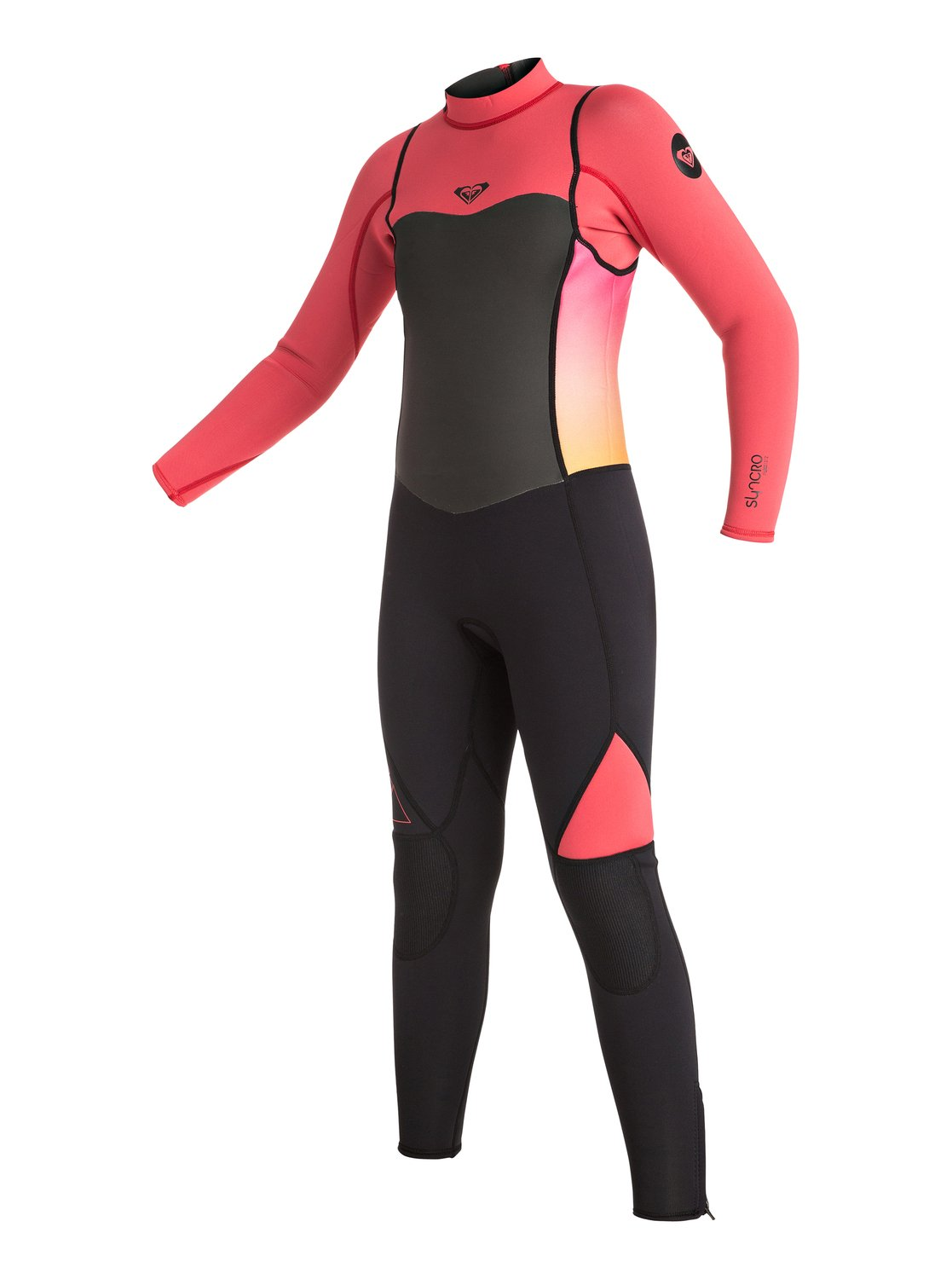 Длинный гидрокостюм (фулсьют) Syncro 3/2mm на спинной молнии для девочекCreating a wetsuit that works like a suit of armour, ROXY's Syncro 3/2mm steamer is a lightweight and flexible design that offers instant water repellence and endless wearability. Cut from our signature F'N Lite insulating neoprene, this performance-driven girls' suit features resistant flatlock seams and a Thermal Smoothie lining to keep you warm and comfortable all session long.<br>