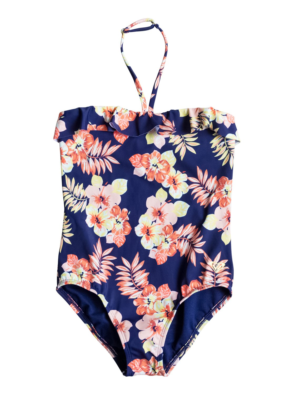 Girls Aloha One Piece SwimsuitКупальник для девочек Aloha от ROXY. <br>ХАРАКТЕРИСТИКИ: линия груди с оборками, кольцо для регулировки формы лифа, вышитый логотип ROXY, сплошной цветочный принт. <br>СОСТАВ: 80% нейлон/полиамид, 20% эластан.<br>