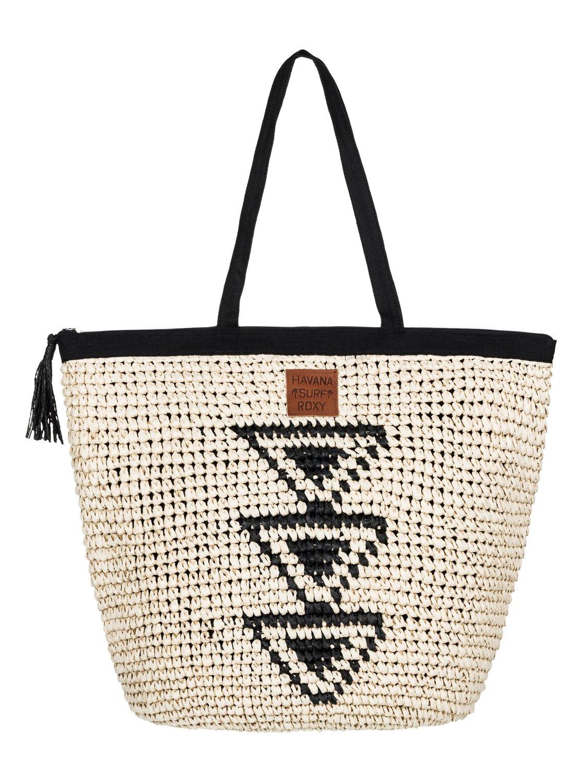 Got Rhythm Straw Beach Bag 889351760029 | Roxy