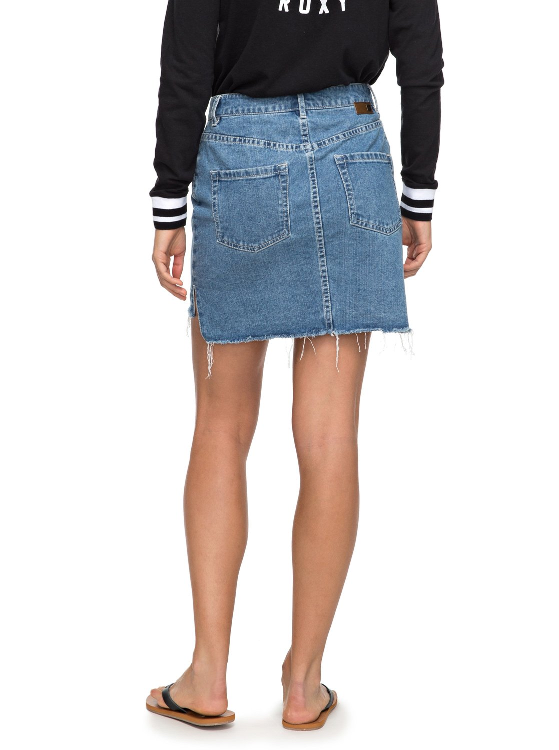 Take This Chance High Waisted Denim Skirt ERJDK03006 | Roxy