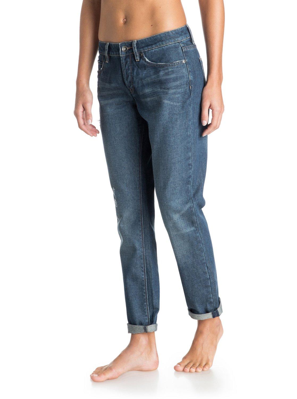roxy rider boyfriend fit jeans jean coupe boyfriend femme 28 bleu ebay. Black Bedroom Furniture Sets. Home Design Ideas