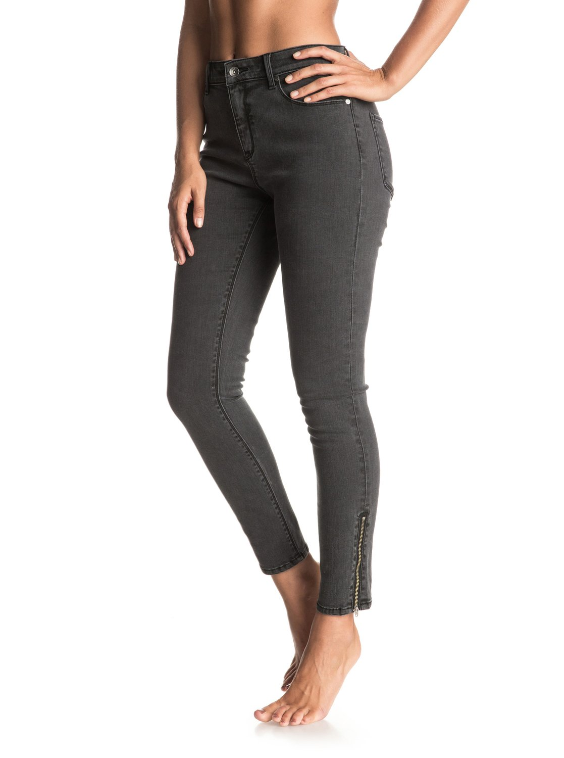 Night Spirit Skinny High Waisted Jeans 889351692801 | Roxy