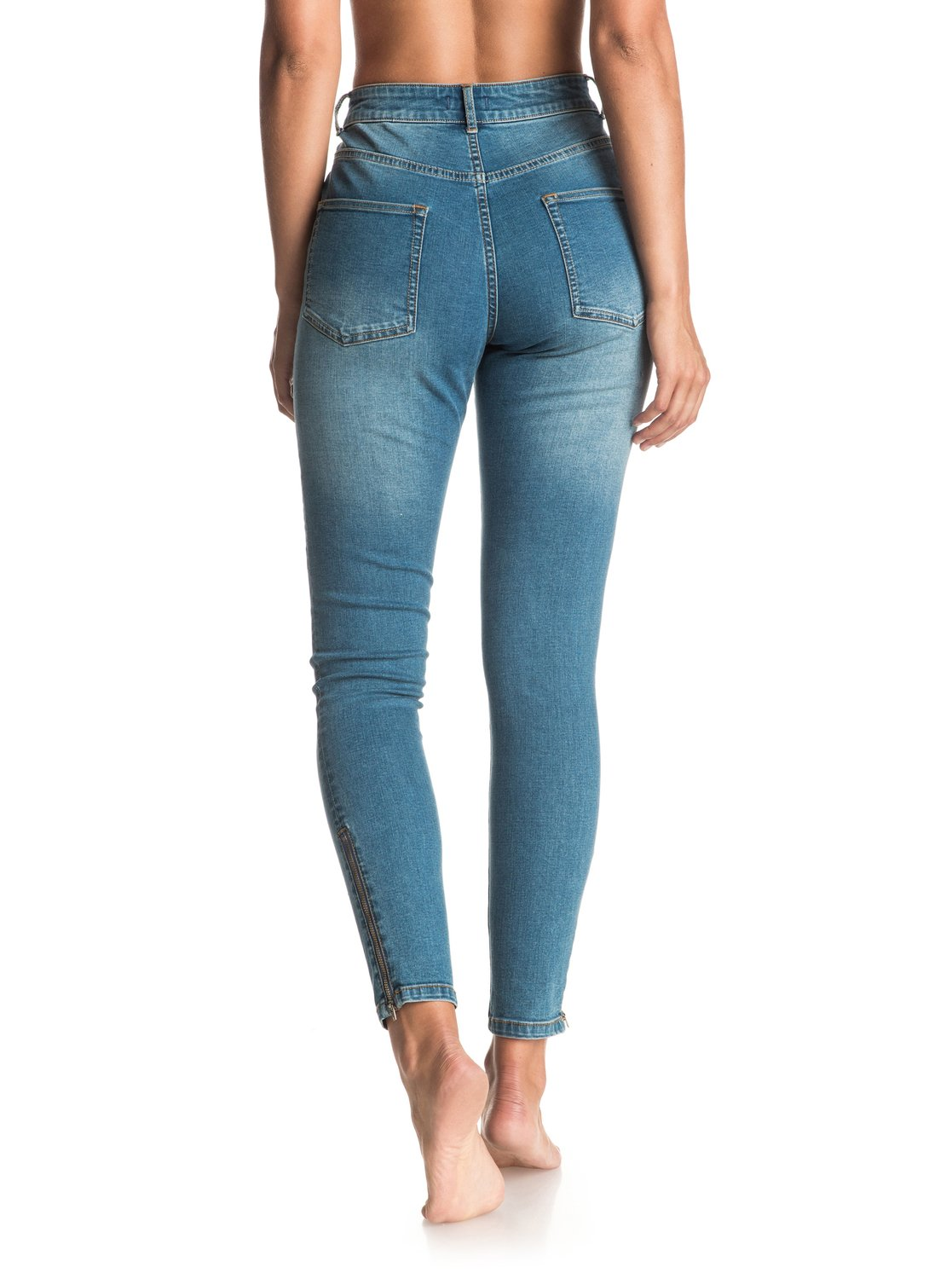 Night Spirit Medium Blue - Super Skinny High Waisted Jeans ...