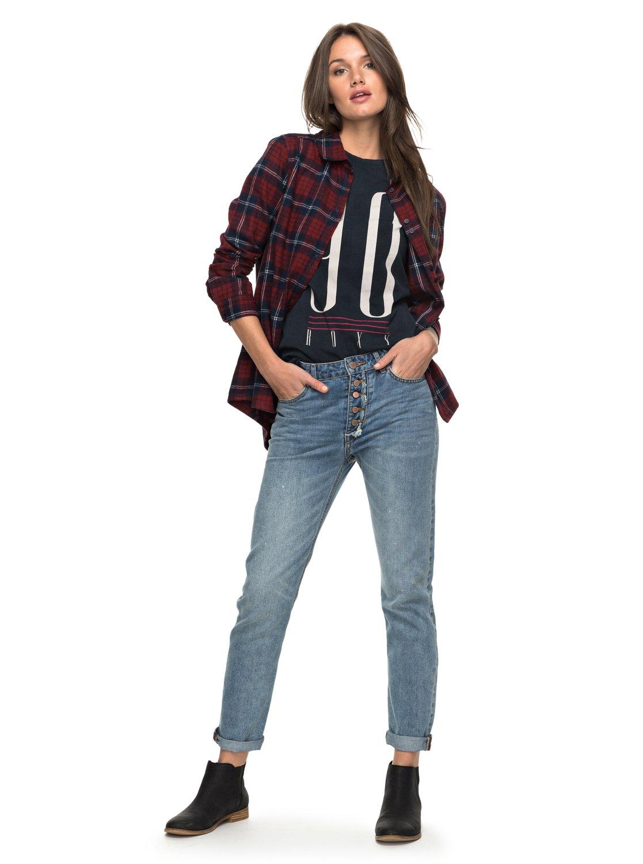 I Feel Free - Vaqueros de corte recto de cintura alta para Mujer Roxy